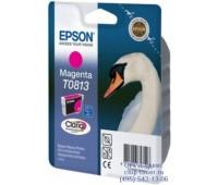 Картридж пурпурный Epson T0813 ,оригинальный