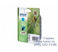 Картридж голубой Epson T0822 оригинальный