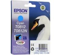 Картридж голубой Epson T0812 оригинальный