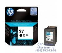Картридж струйный черный  HP 27,  оригинальный