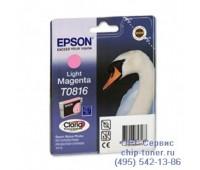 Картридж светло-пурпурный Epson T0816 оригинальный